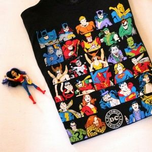 DC Comics Short Sleeve Black Superhero T Shirt